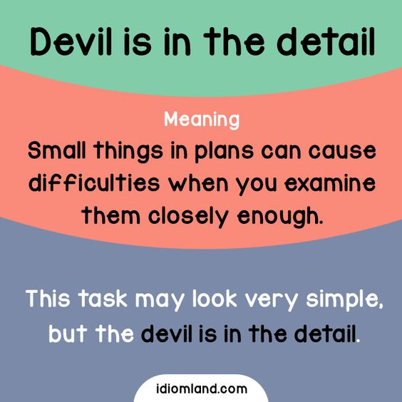 idioms small things and on