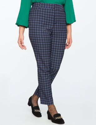 Kady Fit Printed Crepe Pant from ELOQUII