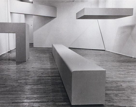 Seven plywood structures painted grey, Green Gallery, New York (1964) / by Robert Morris
