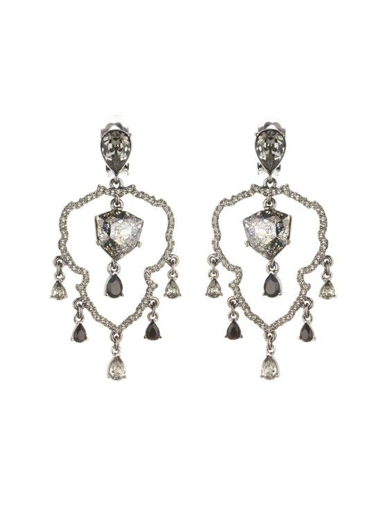 Swarovski Crystal Shield Chandelier Earrings