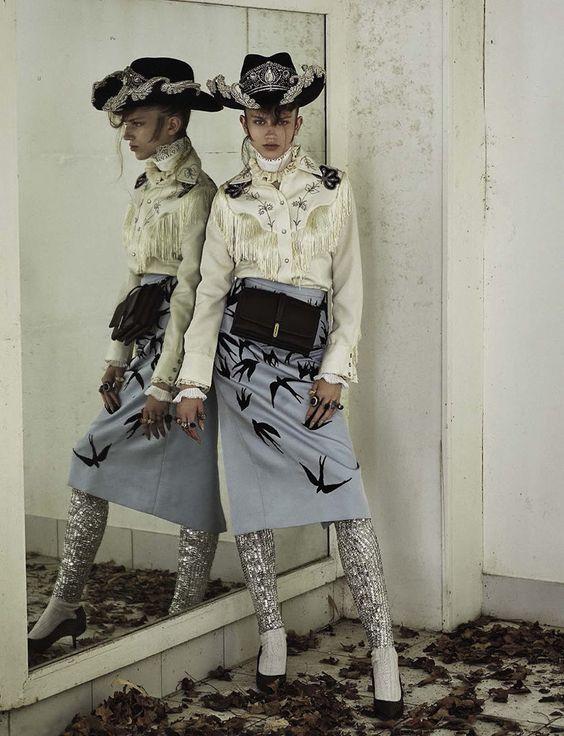 Sabina Lobova by David Dunan for Vogue Italia October 2015 |