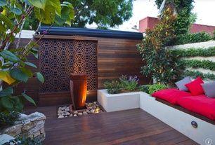 Asian Patio with Wally Three, Raised beds, Pacific Panel Custom Wood Slat Wall, Fence