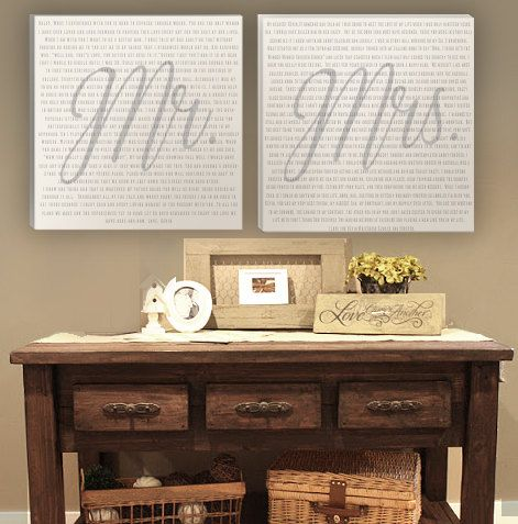 Limited Time Only Holiday Sale!  Get free standard shipping with the purchase of the Mr and Mrs Wedding Vow Canvas Art Square from now until December 1st!  Give the gift of your cherished words this Christmas by transforming the promises from your special day into art that will be treasured for a lifetime as a symbol of your love and dedication.  **Offer ends at midnight PST on November 30th 2015. Offer applicable only to the Square Canvas art in the 16x16 or 24x24 size.