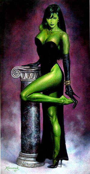 "Rarely seen ""dressed up"" She Hulk"