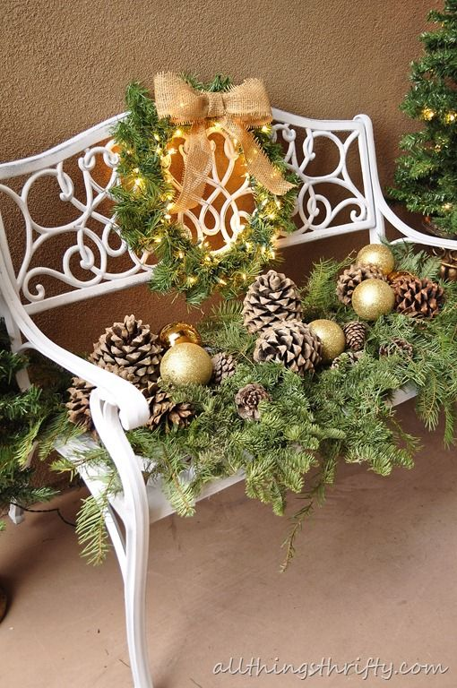 Outdoor Benches Outdoor Chairs And Christmas On Pinterest