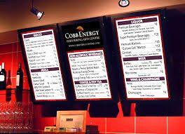 Image result for digital menu boards