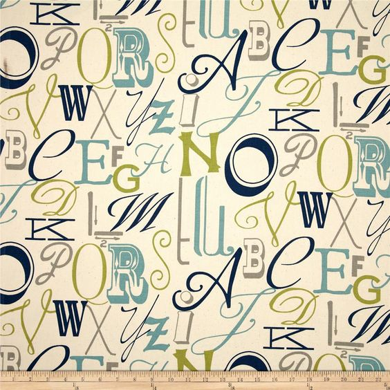 Premier Prints Alphabet Felix/Natural | Alfabeto, Fundas nórdicas y ...