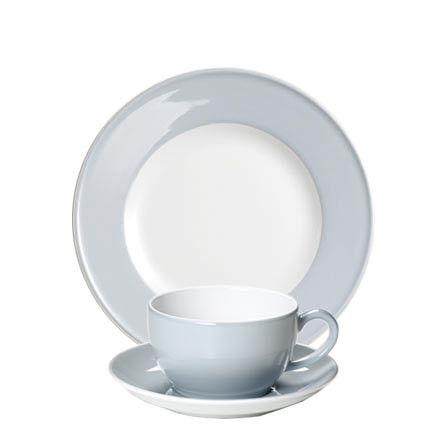 #Dibbern Solid Color Lichtgrau - Frühstücksgedeck