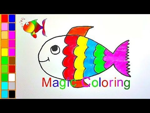 How To Draw A Fish Coloring Pages Rainbow Fish For Kids Fish Coloring Page Rainbow Fish Coloring Books