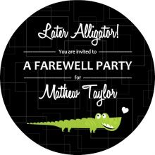 Later Alligator Set Farewell Party Invitation Cool To