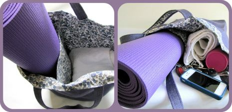 Tutorial: yoga bag with insert panel