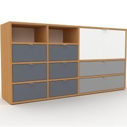 Sideboard Eiche Sideboard Schubladen In Anthrazit Turen In W