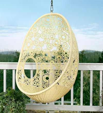Flower Pod Chair on the porch.