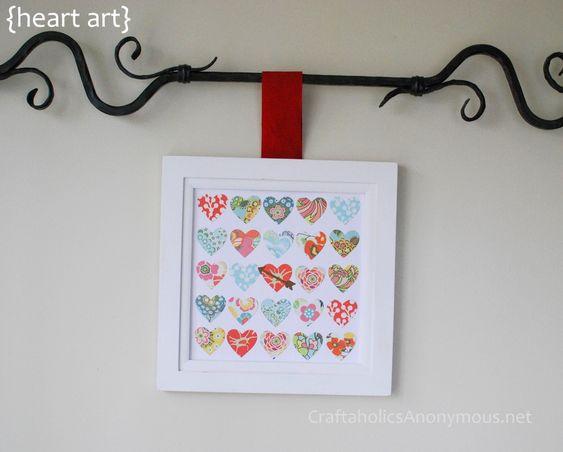 valentine's day craft on http://www.craftaholicsanonymous.net/2012/01/valentine-speciment-art.html