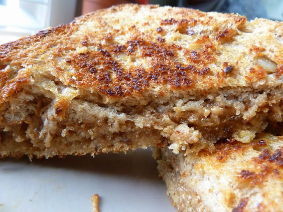 Grilled Peanut Butter and Honey Sandwich, if you haven't tried this, you NEED to! Deliciousness!