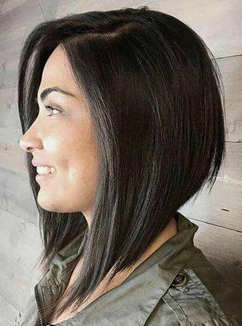An Angled Bob Is A Forward Haircut That Is Shorter In The Back And Bit By Bit Advances To A L Angled Bob Hairstyles Inverted Bob Hairstyles Angled Bob Haircuts