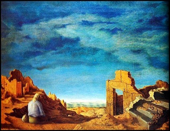 Nàufrago - Pintura de Hèctor Poleo - 1945.