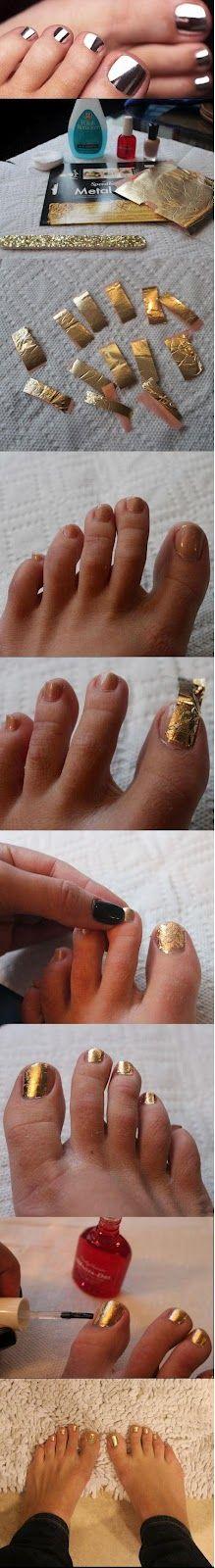 Diy Nails con papel de chocolatinas