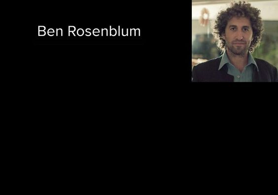 Ben Rosenblum's page on about.me
