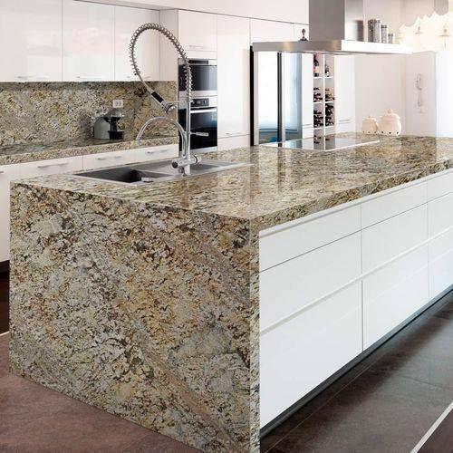 Teinte Granit Lennon Gold Granit Cuisine Plan De Travail Cuisine Granit