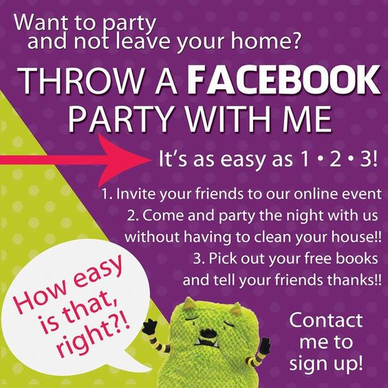 It's facebook party time! Who wants free books?!