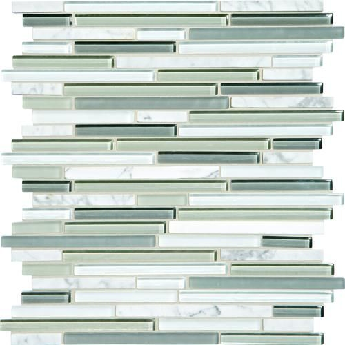 Mohawk Phase Silver Lake 12 X 12 Glass And Stone Mosaic Tile Actual Size 12 X 12 Glass Tile Backsplash Kitchen Glass Mosaic Backsplash Stone Mosaic Tile
