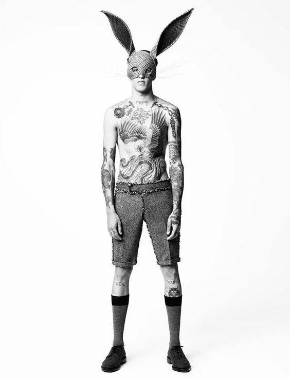 tattoed bunny-guy