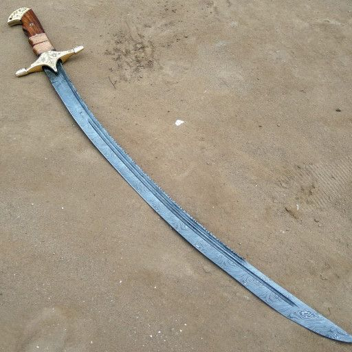 Handmade Abbas of Persia Wooden Scimitar Sword
