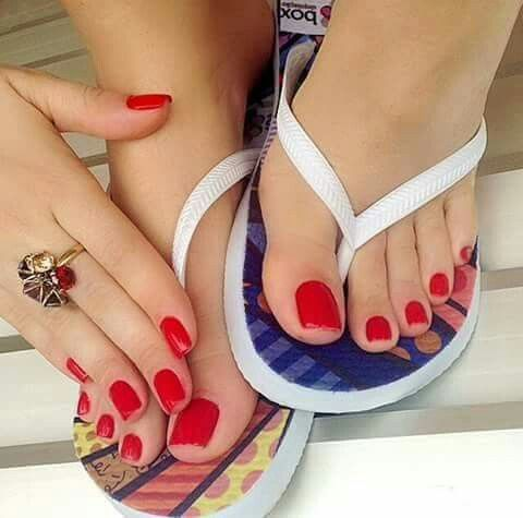 Bright Red Flat Shoes