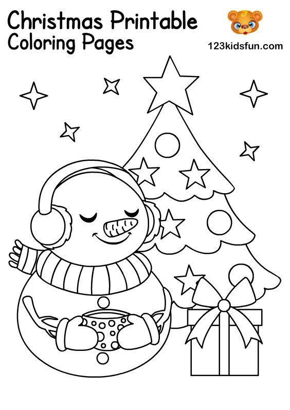 Free Christmas Printables For Kids 123 Kids Fun Apps Christmas Coloring Pages Free Christmas Printables Free Christmas Coloring Pages