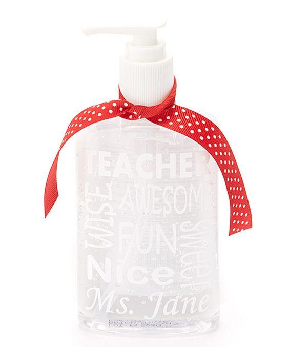 Look what I found on #zulily! White 'Teacher' Personalized Dispenser by My Red Thread #zulilyfinds