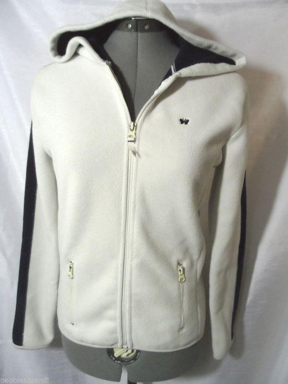 AEROPOSTALE Fleece Hoodie Jacket juniors XS Ivory Blue athletic Beach sweatshirt