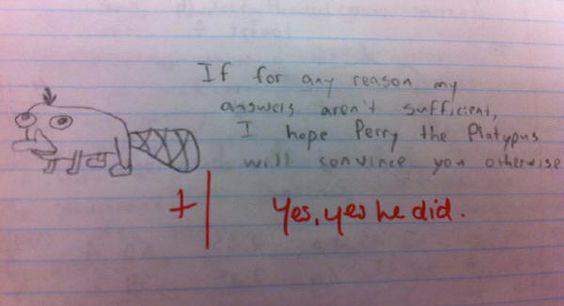 that must be a really good teacher.