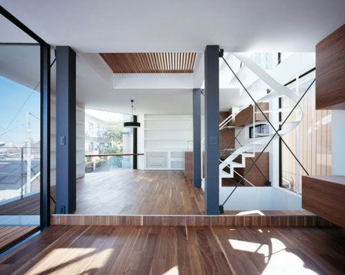 A husband and wife commissioned Apollo Architects & Associates to build the three-story Vista house in Tokyo, Japan.