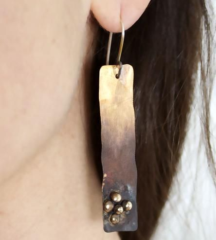 Bronze Pebble Earrings by Union Studio Metals on Scoutmob Shoppe