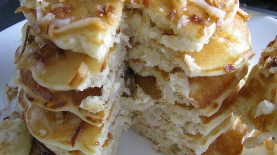 white chocolate coconut pancakes @Jules Murphy