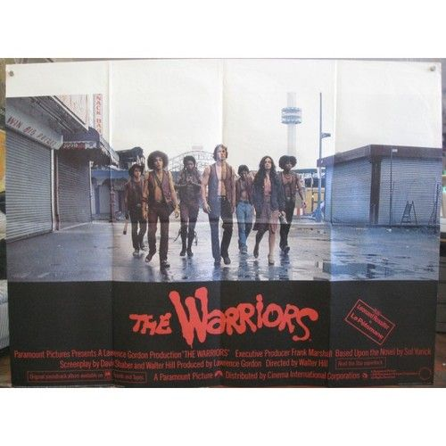 Warriors Movie Come Out And Play: The Warriors 1979 British Quad Movie Poster