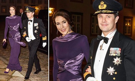 Princess Mary dons an unusual statement purple Alexander McQueen gown