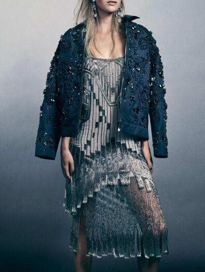 "voguelovesme: "" Mirte Maas by David Slijper for Harper's Bazaar UK December 2014 """