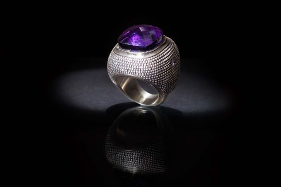 ANEL | Prata com ametista. RING | Silver with amethyste. AN0480 #MarcoCruzJoalheiro #Jewelry #Joias #Classic #Portugal #Silver #Jewels