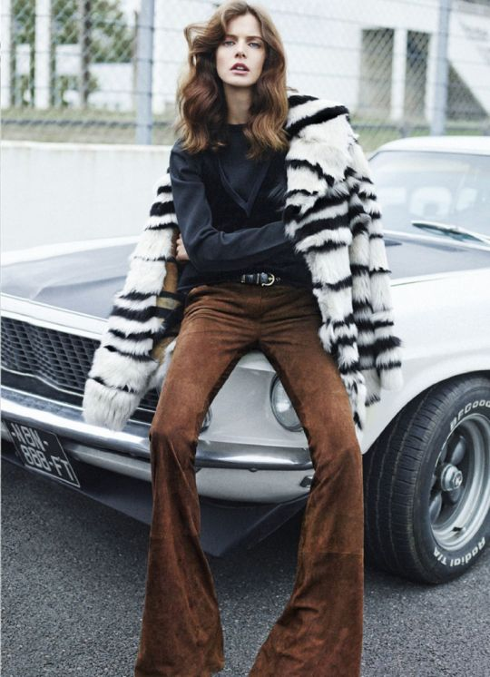 #flare #suede #pants #bell #fur