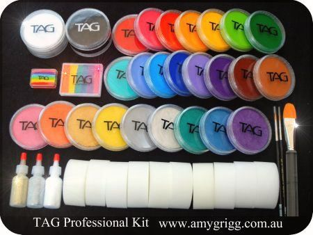 Tag Face Paint Suppliers | Items included in the TAG Professional Face Painters Kit are