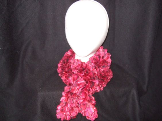 Ruffle Ribbon Scarf by AnnasKnots on Etsy, $10.00