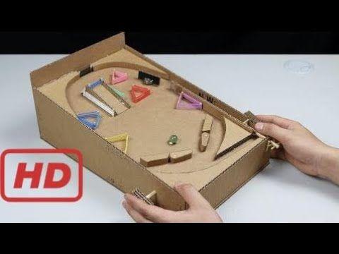 Cómo Hacer Una Máquina De Pinball Con Cartón En Casa Youtube Pinball Casero Pinball Manualidades Juguetes