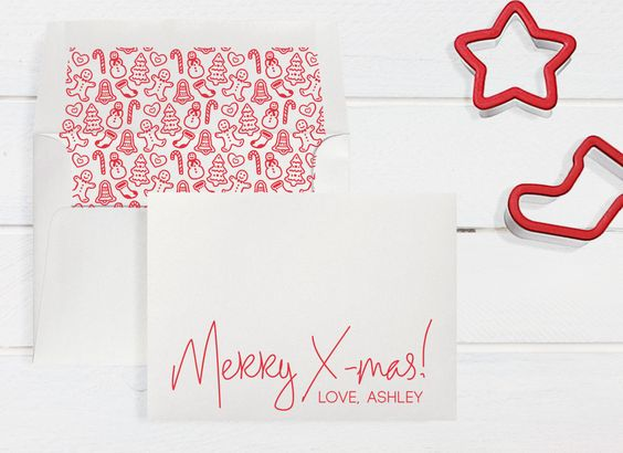 Custom/Personalized Boxed X-mas Cards 6 Cards by DenaMariaPapers