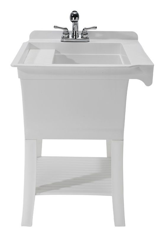 Maddox Workstation 24 38 X 25 75 Freestanding Laundry Sink With Faucet Utility Sink Sink Free Standing Sink