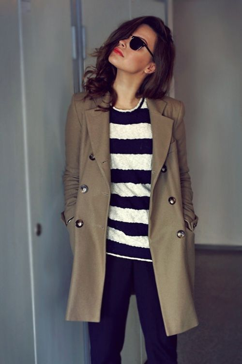 classic pieces: stripes + a trench