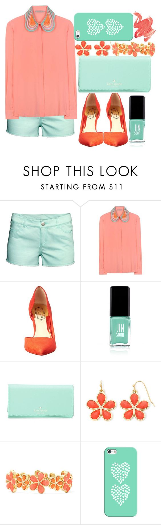 """""""a walk with the spring"""" by giuliamerluzzi ❤ liked on Polyvore featuring H&M, Christopher Kane, Ted Baker, Jin Soon, Kate Spade, Liz Claiborne, Casetify, women's clothing, women and female"""