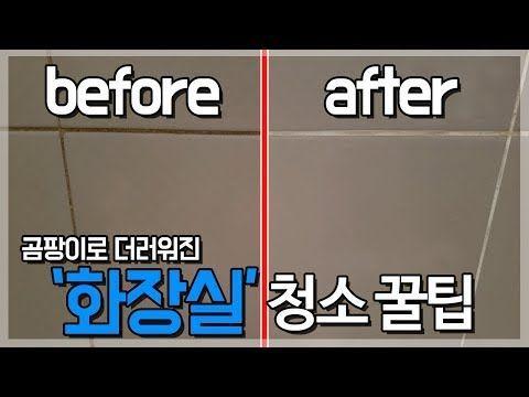 청소업체가 절대 비밀로 하는 욕실 청소 방법 7가지 Youtube 청소 청소 팁 욕실 곰팡이 제거