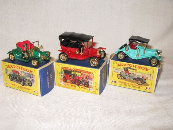 VINTAGE MATCHBOX CARS -1911 MODEL T FORD, 1911 RENAULT, & 1911 MAXWELL ROADSTER #Matchbox #Ford